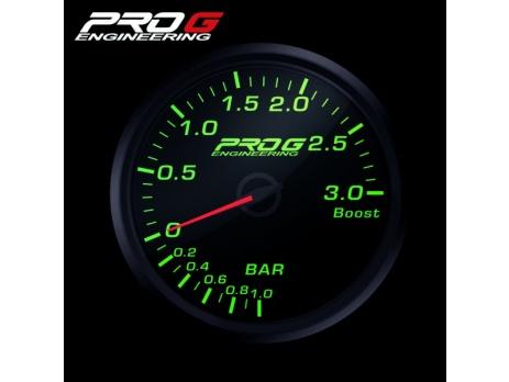 Přídavný budík Pro G Race Series RC tlak turba ZELENÝ 60mm