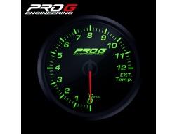 Přídavný budík Pro G Race Series RC (EGT) teplota výfukových plynů ZELENÝ 52mm