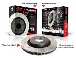 ZADNÍ sada - DBA4000 T3 Slot Sportovní Drážkované Brzdové kotouče