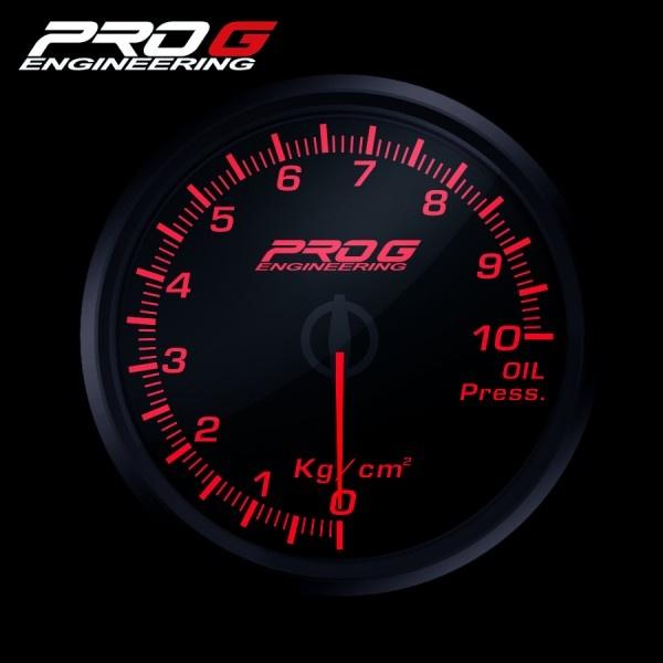 Přídavný budík Pro G Race Series RC tlak oleje ČERVENÝ 52mm