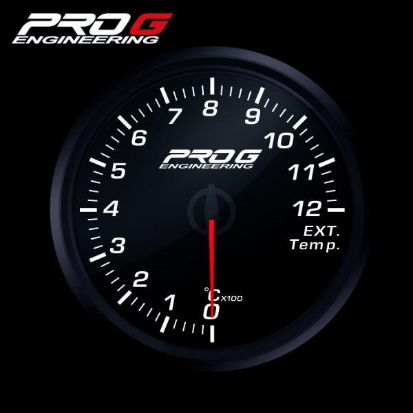 Přídavný budík Pro G Race Series RC (EGT) teplota výfukových plynů BÍLÝ 52mm