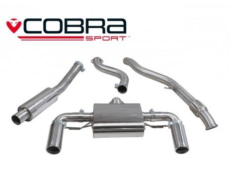 COBRA Sport Cat Back výfuk pro BMW M235i F22 se střed. tlumičem