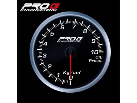 Přídavný budík Pro G Race Series RS tlak oleje BÍLÝ 52mm
