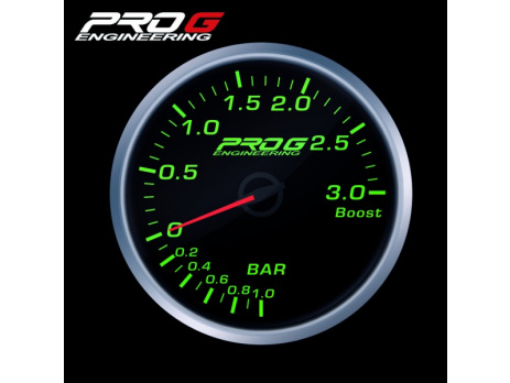 Přídavný budík Pro G Race Series RS tlak turba ZELENÝ 52mm