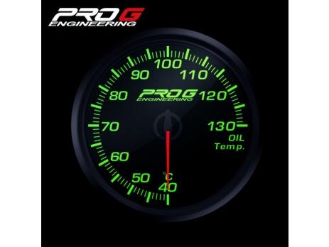 Přídavný budík Pro G Race Series RC teplota oleje ZELENÝ 60mm