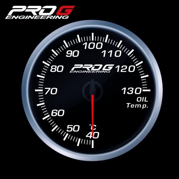 Přídavný budík Pro G Race Series RS teplota oleje BÍLÝ 60mm