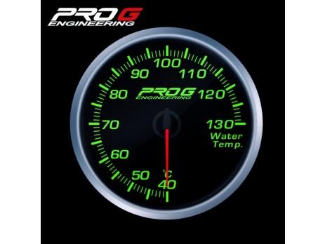 Přídavný budík Pro G Race Series RS teplota vody ZELENÝ 52mm