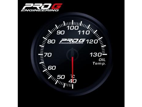 Přídavný budík Pro G Race Series RC teplota oleje BÍLÝ 52mm