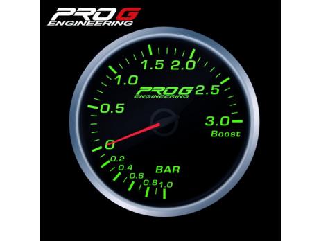 Přídavný budík Pro G Race Series RS tlak turba ZELENÝ 60mm