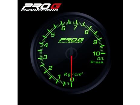 Přídavný budík Pro G Race Series RC tlak oleje ZELENÝ 52mm