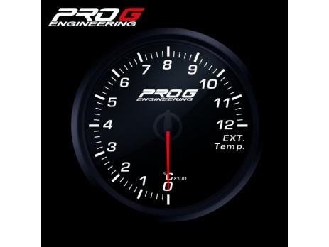 Přídavný budík Pro G Race Series RC (EGT) teplota výfukových plynů BÍLÝ 60mm