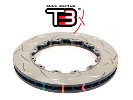 Brzdové kotouče Nissan GT-R R35 2012> PŘEDNÍ náhradní sada - DBA5000 T3 Slot Sportovní Drážkované