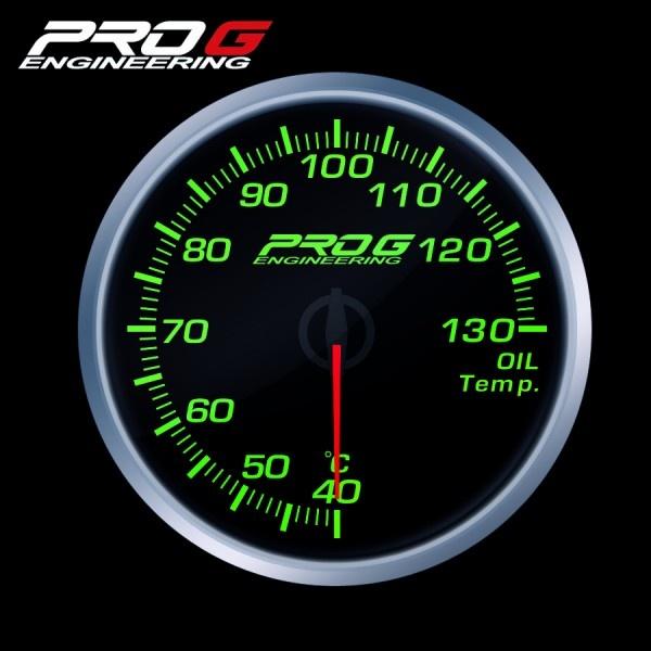 Přídavný budík Pro G Race Series RS teplota oleje ZELENÝ 60mm