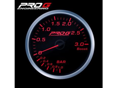 Přídavný budík Pro G Race Series RS tlak turba ČERVENÝ 60mm
