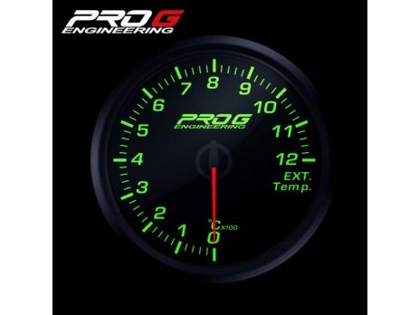 Přídavný budík Pro G Race Series RC (EGT) teplota výfukových plynů ZELENÝ 60mm