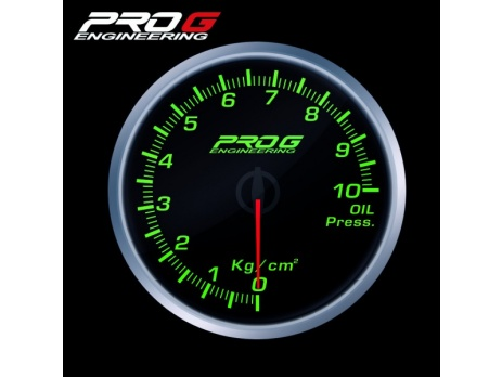 Přídavný budík Pro G Race Series RS tlak oleje ZELENÝ 60mm