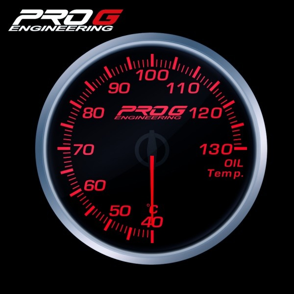 Přídavný budík Pro G Race Series RS teplota oleje ČERVENÝ 60mm