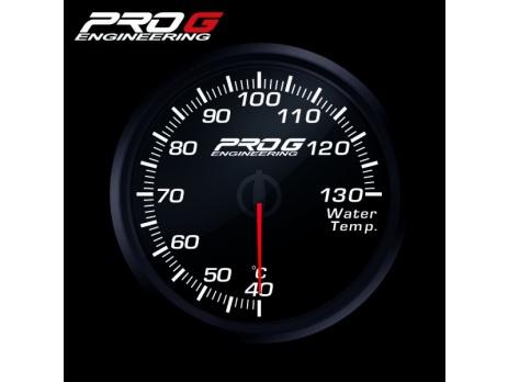 Přídavný budík Pro G Race Series RC teplota vody BÍLÝ 60mm