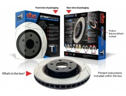 Brzdové kotouče Subaru Impreza WRX, Subaru Forester, Legacy GT ZADNÍ sada - DBA4000 T2 Slot Sportovní Drážkované