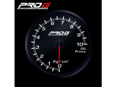 Přídavný budík Pro G Race Series RC tlak oleje BÍLÝ 60mm