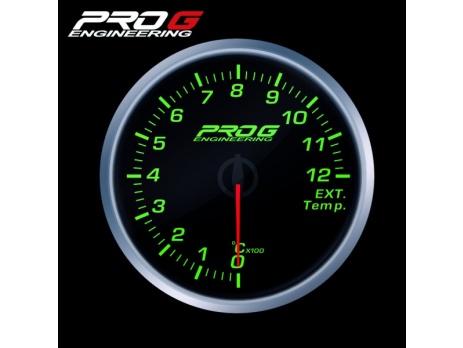 Přídavný budík Pro G Race Series RS (EGT) teplota výfukových plynů ZELENÝ 35mm