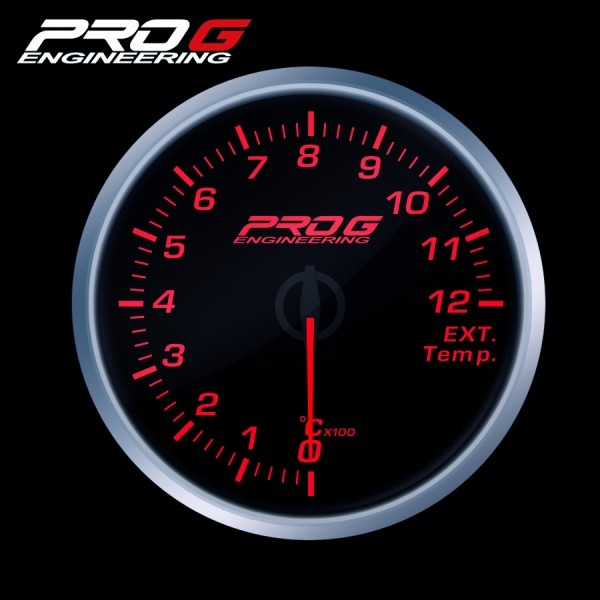 Přídavný budík Pro G Race Series RS (EGT) teplota výfukových plynů ČERVENÝ 60mm