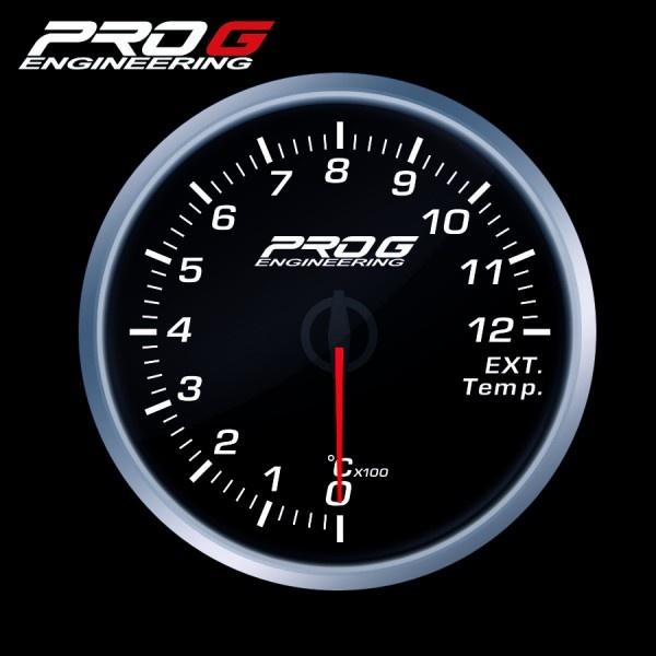 Přídavný budík Pro G Race Series RS (EGT) teplota výfukových plynů BÍLÝ 60mm