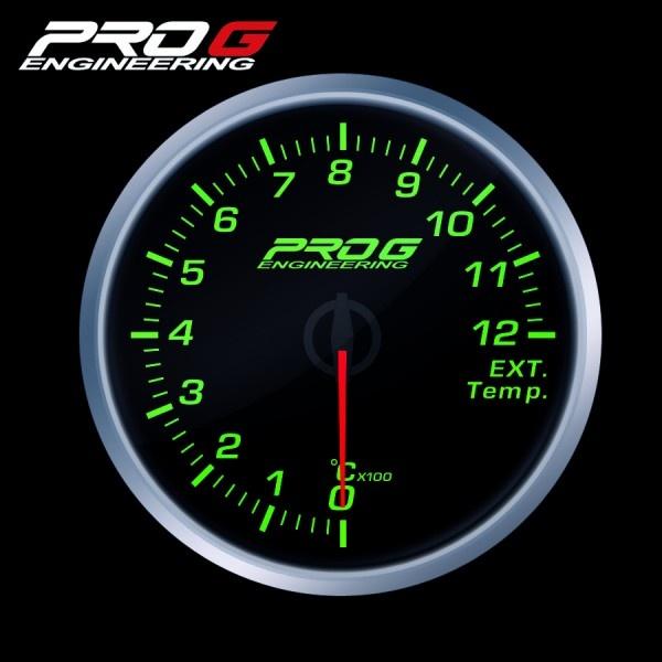 Přídavný budík Pro G Race Series RS (EGT) teplota výfukových plynů ZELENÝ 60mm